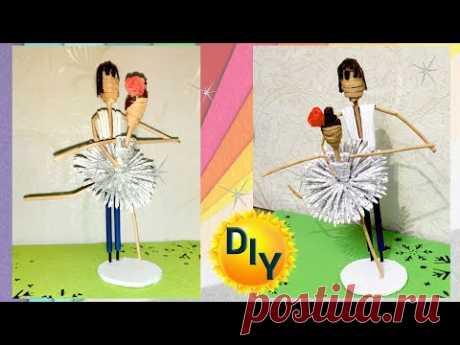 Балерина из газет. DIY/рукоделие. #изгазет #декор #кукла