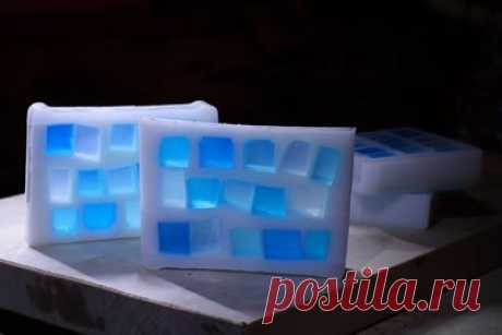 Мастер-класс по мыловарению Голубые окошечки / Необычные поделки