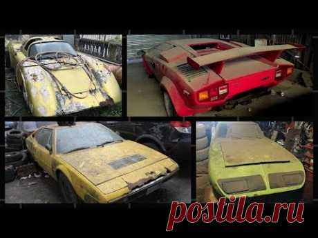 Top 25 Most Legendary Abandoned Supercars around the world.