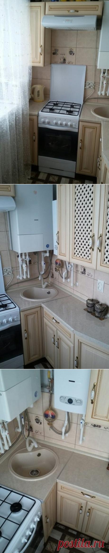 По-настоящему маленькая кухня в хрущевке! 3,8 кв.м. с двумя газовыми колонками | Какую кухню купить? | Яндекс Дзен