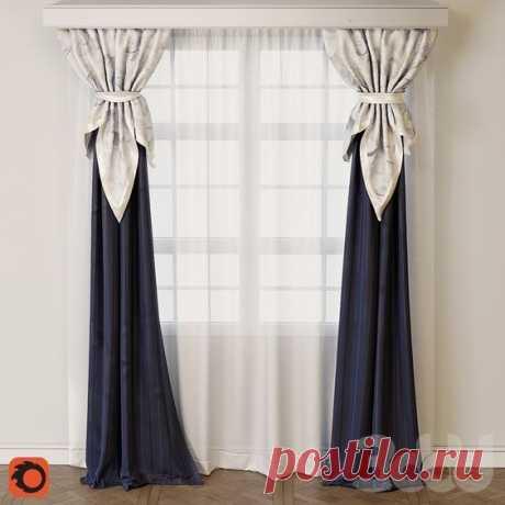 3d модели: Шторы - Curtain