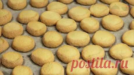 Самое простое печенье Нежное песочное печенье из трех ингредиентов