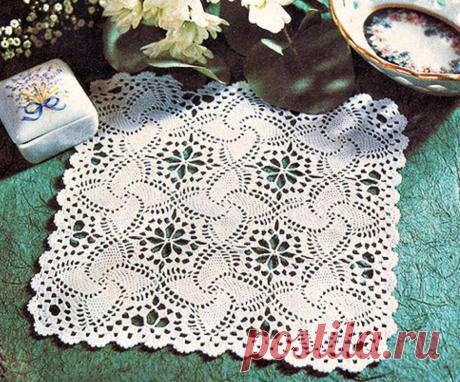 Красивая квадратная салфетка из мотивов (с описанием) | Идеи рукоделия | Яндекс Дзен