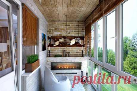Уютные балконы и лоджии: вдохновляющие идеи — Сделай сам, идеи для творчества - DIY Ideas