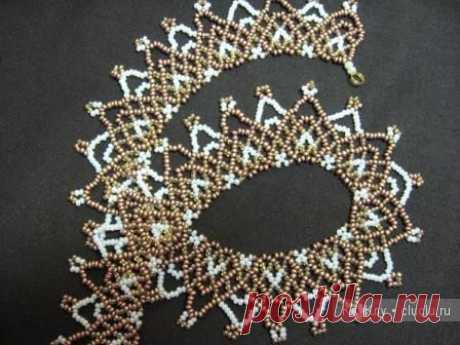 Плетем ожерелье Винтажное из бисера / Бисероплетение, поделки и украшения из бисера, мастер классы и схемы / КлуКлу. Рукоделие - бисероплетение, квиллинг, вышивка крестом, вязание