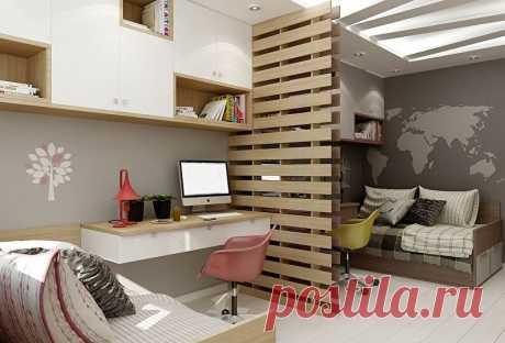 Стильный дизайн для детской для двоих — мальчика и девочки: планировка комнаты | Дизайн и Фото | Яндекс Дзен