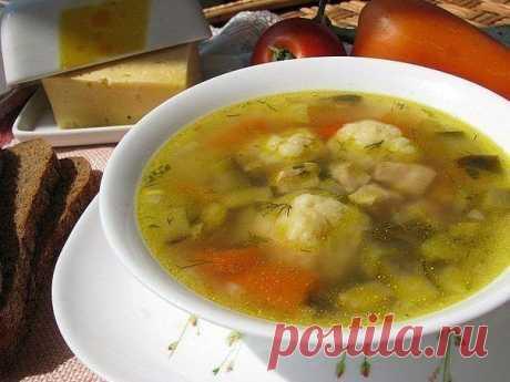 Волшебный суп с сырными шариками. Быстрый болгарский суп