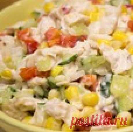 Салат с курицей и овощами «Калейдоскоп»
