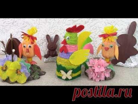 Поделки из БРОСОВОГО материала к Пасхе/ Easter crafts DIY. ХоббиМаркет
