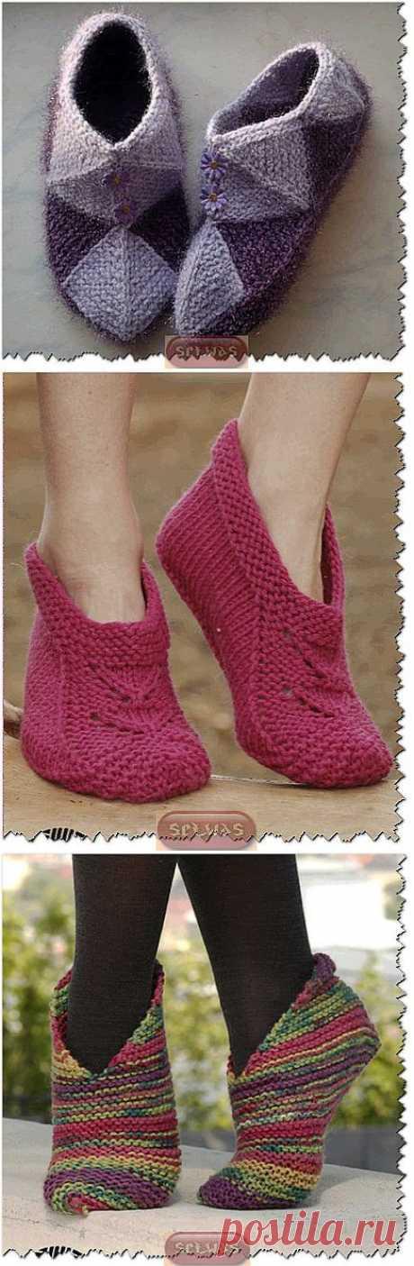 Тапочки-носочки для всех,подборка 10.