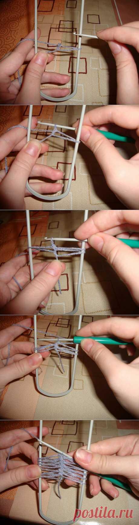 Урок №1 - для начинающих вязать на вилке - Ярмарка Мастеров - ручная работа, handmade