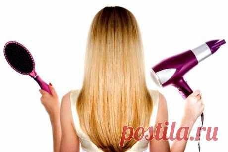 Как сушить волосы феном: 5 правил