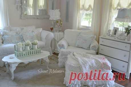 Интерьер в стиле шебби шик дома Мелани