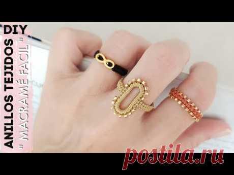 КАК СДЕЛАТЬ Плетеные кольца макраме своими руками
