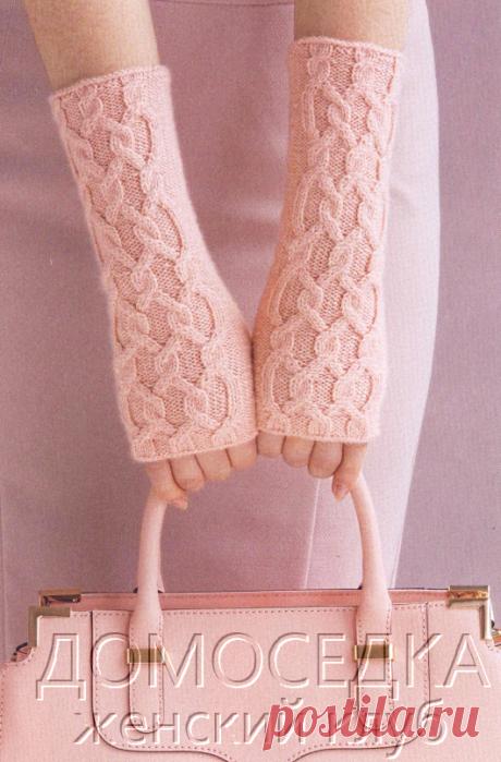 Вязание спицами митенки | ДОМОСЕДКА