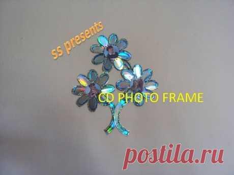 CD PHOTO FRAME OR WALL DECOR - YouTube