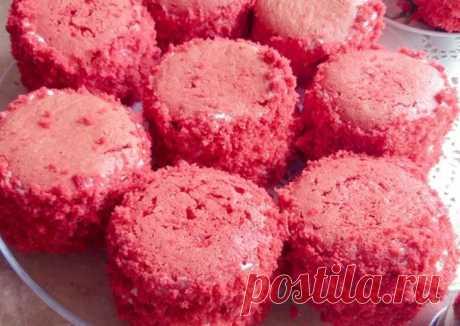 (2) Пирожные Красный бархат ☕ - пошаговый рецепт с фото. Автор рецепта Оля-ля 🏃♂️ . - Cookpad