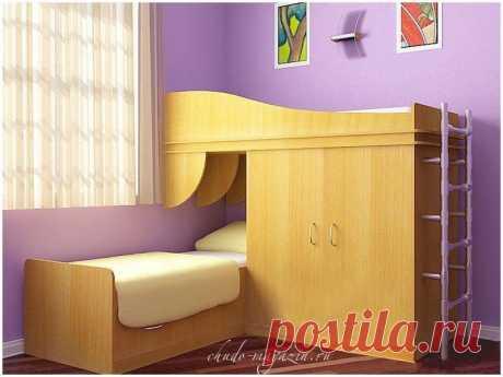 Детская двухспальная кровать со шкафом: фото, вид, идеи, дизайн, конструкция, заказ
