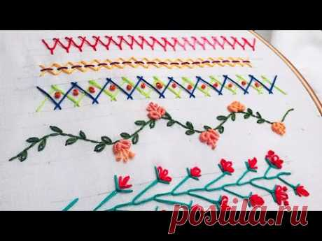 Hand Embroidery: Embroidery Hacks/ Sewing Tricks/ Beginners Embroidery Stitches