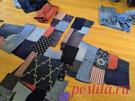 Изготовление куртки в стиле Боро - ЛЮБАЯ текстура - Текстильное искусство