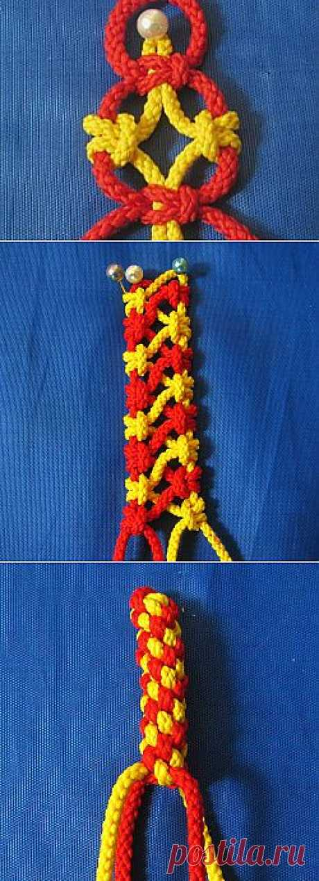 10 openwork chains of 4 threads in equipment of a macrame - the Fair of Masters - handwork, handmade