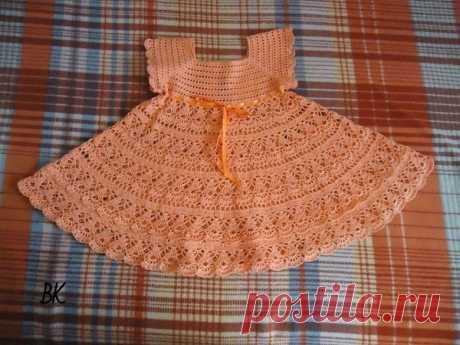 Платье для принцессы крючком