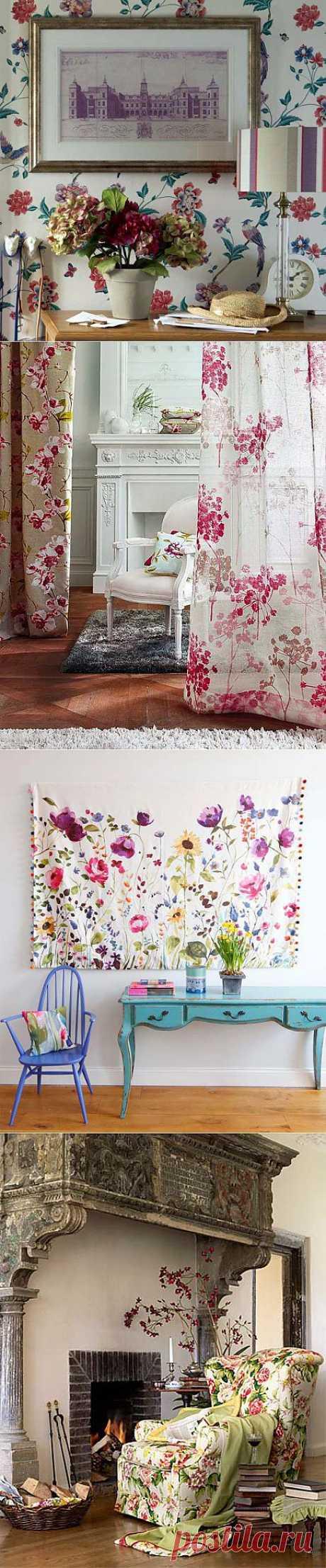 (+1) - Цветочные мотивы в интерьере | Интерьер и Дизайн