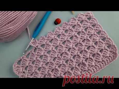 простейшая модель детского пледа жилет  #вязание крючком / узлы сетки
