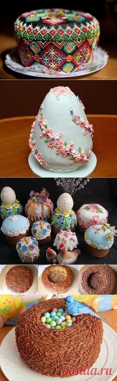 Идеи оригинальных Пасхальных куличей и тортов.