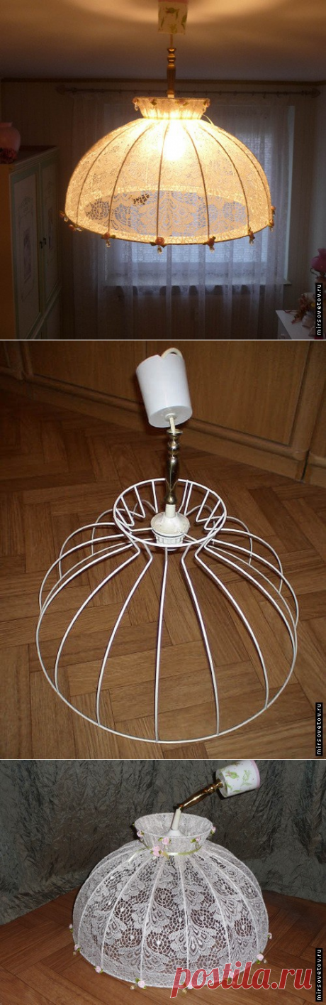 Как обновить старую лампу или абажур (Diy) / Освещение / ВТОРАЯ УЛИЦА