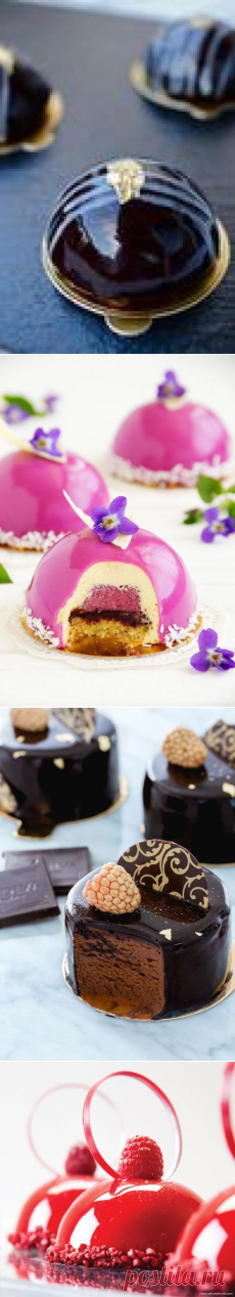 Рецепты зеркальной глазури - для вкусных и красивых тортов и пирожных.