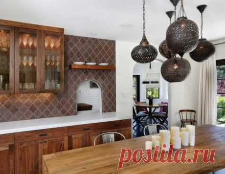 The Moroccan tile in a modern interior