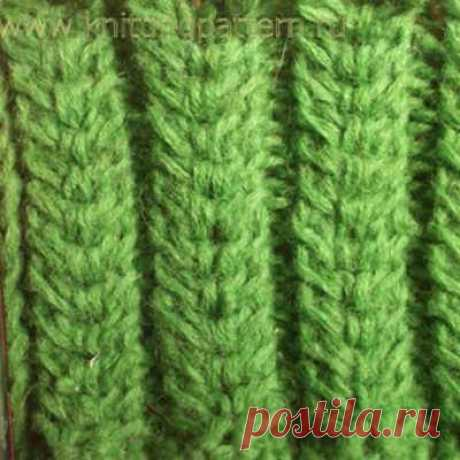 Knitting by spokes braid patterns plaits Magnificent cones