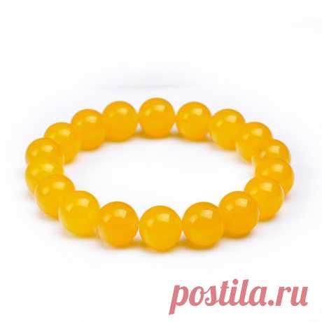 Gelbe Jade 8mm Beaded Armband-Gemstone Bracelet-Stretch | Etsy