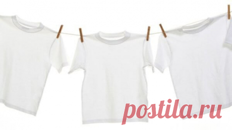 Как отстирать желтые пятна подмышками на белой одежде