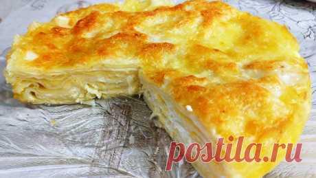 Я в восторге от этого пирога! Без возни с тестом: пирог с сыром Очень простой рецепт, в котором не приходится тратить время на замес теста для пирога. Для приготовления вам потребуются такие ингредиенты: — лаваш тонкий, 2 шт; — масло сливочное,...