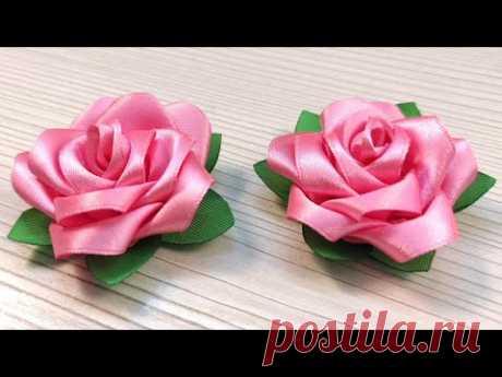 Видео мастер-класс: Как сделать красивый цветок розы своими руками - YouTube