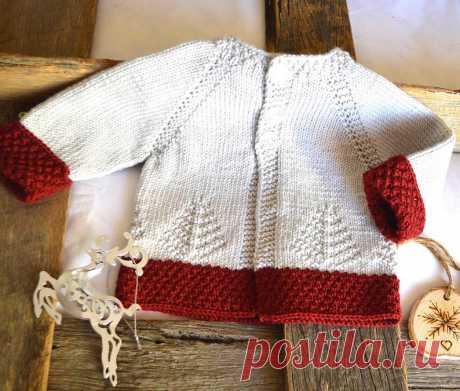 KNITTING PATTERN'Fir Christmas' cardigan P138 | Etsy