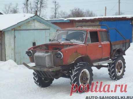 Самодельный вездеход из ВАЗа от деревенского Кулибина | Авто гараж
