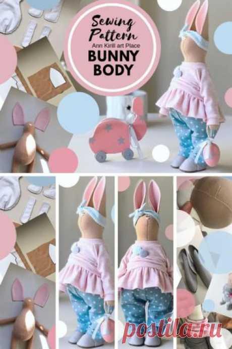 Sewing Pattern Bunny Body Bunny Doll Tutorial Bunny DIY | Etsy