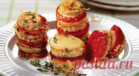 Овощной тиан (кабачки, запеченные с картошкой, помидорами и сыром), пошаговый рецепт с фото