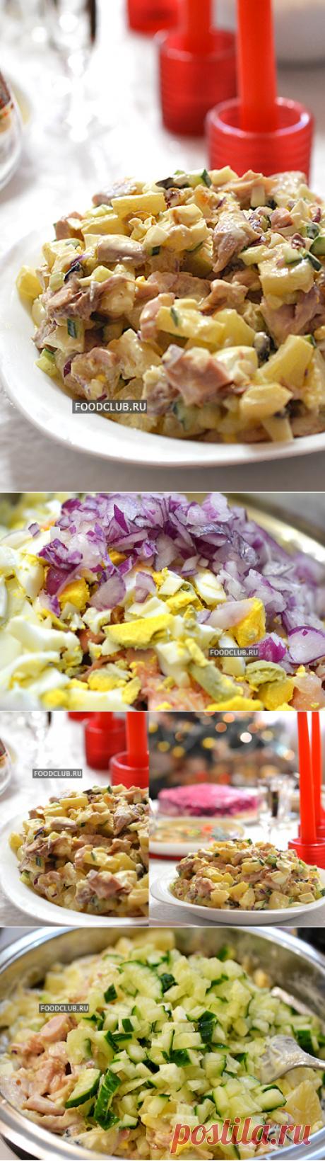Освежающий праздничный салат с курицей