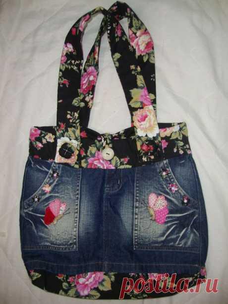 Сумки из джинсовой ткани: идеи, выкройки.