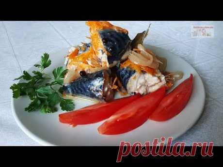 Скумбрия с овощами в банке в духовке (+ВИДЕО) - Затейка.com.ua - рецепты вкусных десертов, уроки вязания схемы, народное прикладное творчество