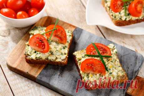 Бутерброды на завтрак на скорую руку – пошаговый рецепт с фото.