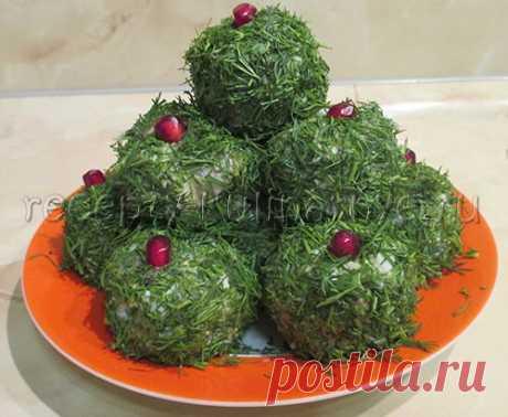 Закуска из сельди «Изумрудная горка» - Пошаговый рецепт приготовления с фото - Из сельди - Закуски