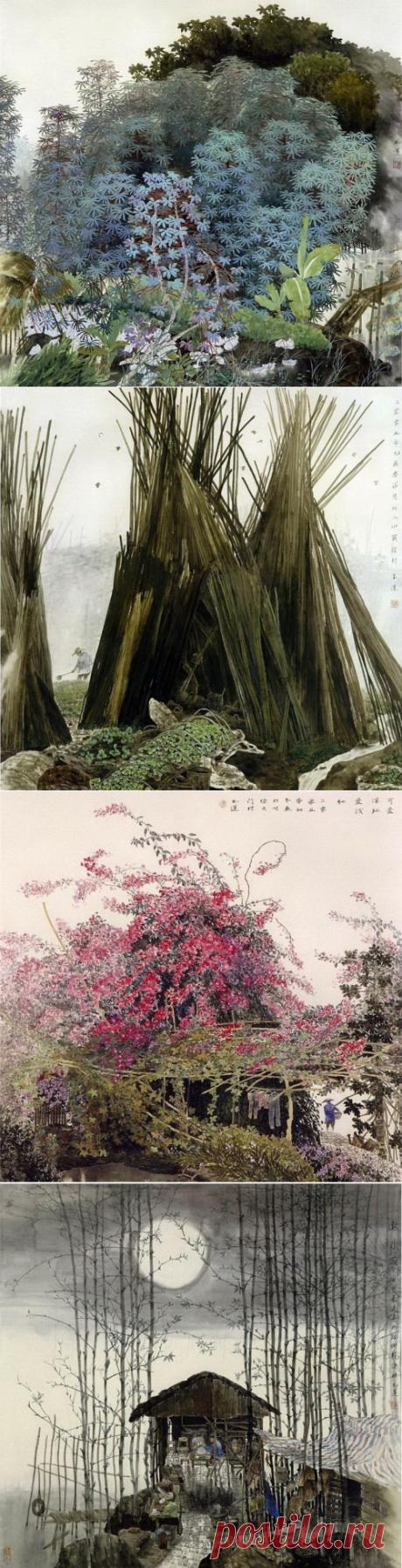 Художник Chen YuLian - Китайская живопись (14 работ) » Картины, художники, фотографы на Nevsepic