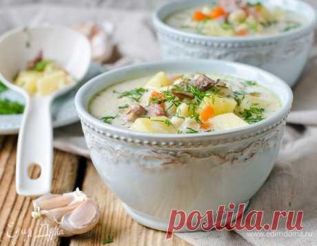 Кулинарные советы. Быстрый мастер-класс: сырный суп с курицей и шампиньонами
