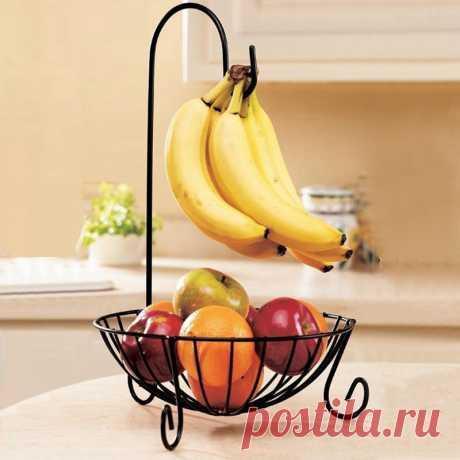 994.76руб. 18% СКИДКА|Практичная металлическая корзина для фруктов, съемная вешалка для бананов, держатель для хранения, крючок для кухни, креативная корзина для продуктов|Полки и держатели|   | АлиЭкспресс Покупай умнее, живи веселее! Aliexpress.com