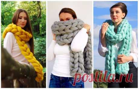 За час и без спиц: Как самому сделать модный шарф-косичку . Милая Я